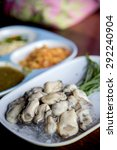 oyster in spicy sauce | Shutterstock . vector #292240904