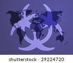 biohazard sign  warning alert... | Shutterstock .eps vector #29224720
