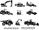 set of heavy construction... | Shutterstock .eps vector #292249529