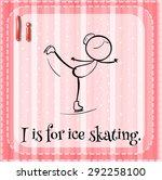 flashcard letter i is for ice... | Shutterstock .eps vector #292258100