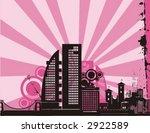 sunrise cityscape silhouette... | Shutterstock .eps vector #2922589