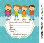 birthday invitation design ...   Shutterstock .eps vector #292260074