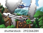 a vector illustration of rescue ... | Shutterstock .eps vector #292266284