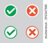 set of flat design check marks...