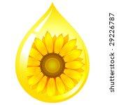 vector sunflower seed oil drop | Shutterstock .eps vector #29226787