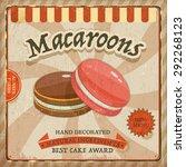 Vintage Macaroons Poster Desig...