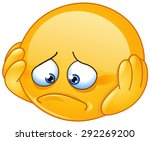 depressed and sad emoticon with ... | Shutterstock .eps vector #292269200
