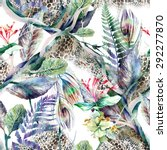 floral seamless pattern   Shutterstock . vector #292277870