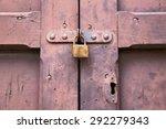 Abstract  Padlock Rusty Brass...