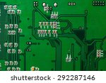 electronic circuit board with... | Shutterstock . vector #292287146