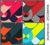 set of banner templates with...   Shutterstock . vector #292288406