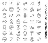 health and fitness  icons | Shutterstock . vector #292290014