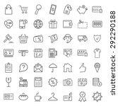 e commerce. outline web icons... | Shutterstock . vector #292290188