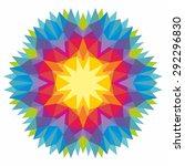 vector triangle pattern... | Shutterstock .eps vector #292296830