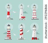vector set of cartoon flat... | Shutterstock .eps vector #292296866