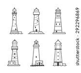 simple vector icon or logo set... | Shutterstock .eps vector #292296869
