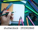 hand write on the notebook and... | Shutterstock . vector #292302860