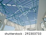 structure of steel roof frame... | Shutterstock . vector #292303733