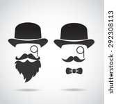 old fashioned  retro gentleman...   Shutterstock . vector #292308113