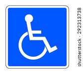 Disabled Sign On Blue...