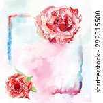watercolour toned roses... | Shutterstock .eps vector #292315508