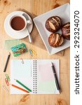 notebook and sticky paper ...   Shutterstock . vector #292324070