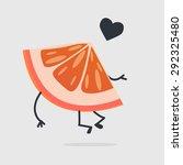 grapefruit character | Shutterstock .eps vector #292325480