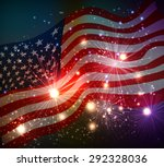fireworks background for 4th of ... | Shutterstock .eps vector #292328036