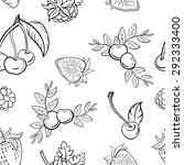pattern made from hand drawn... | Shutterstock .eps vector #292333400