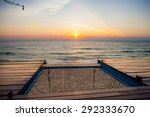 wooden terrace by the sea on... | Shutterstock . vector #292333670
