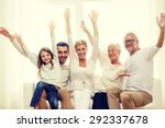 family  happiness  generation... | Shutterstock . vector #292337678