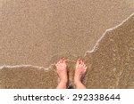 Ocean Sea Waves And Girl Feet...