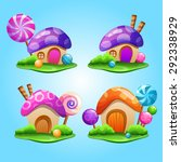 fairytale houses | Shutterstock .eps vector #292338929