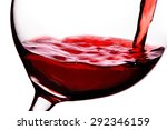 red wine pouring in to the... | Shutterstock . vector #292346159