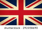 grunge flag of united kingdom   ... | Shutterstock .eps vector #292358690
