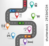 road infographic travel... | Shutterstock . vector #292364234
