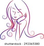 beauty's hair | Shutterstock .eps vector #292365380