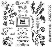 element doodle hand draw   Shutterstock .eps vector #292370720