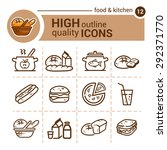 line flat icons of food and... | Shutterstock .eps vector #292371770