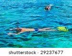 people snorkeling in the sea | Shutterstock . vector #29237677