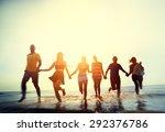 friendship freedom beach summer ... | Shutterstock . vector #292376786