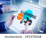 e learning education growth... | Shutterstock . vector #292378268