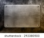 metal plate background   Shutterstock . vector #292380503
