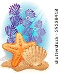 tropical sea bottom   raster... | Shutterstock . vector #29238418