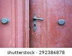 Old Red Wooden Entrance Door...