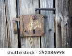 Old Rustic Wooden Entrance Doo...