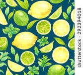 seamless pattern with... | Shutterstock . vector #292394018