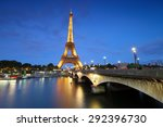 paris   june 19  2015  eiffel... | Shutterstock . vector #292396730