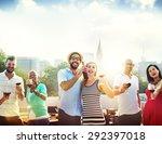 friend friendship dining...   Shutterstock . vector #292397018
