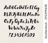handwritten alphabet written... | Shutterstock .eps vector #292399658